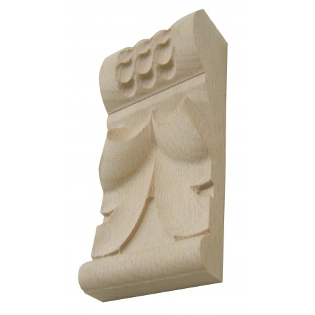 Carved column head, wooden carving, carved wood