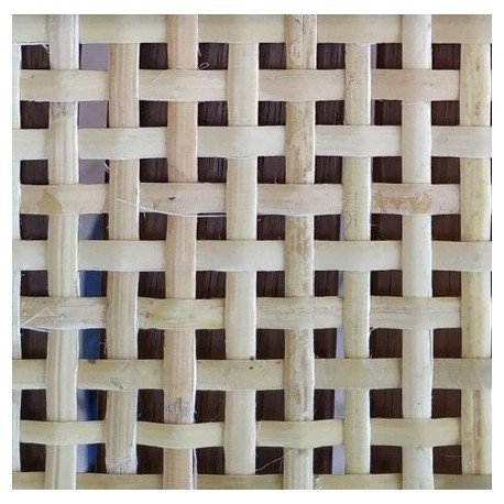 Square cane webbing for rattan radiator cover