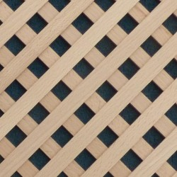 Wood lattice panels for cabinets and wood air vent covers