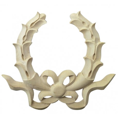 Carved bow, wooden ornament