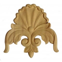 Decorative wood rosette