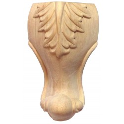 Wooden legs with acanthus