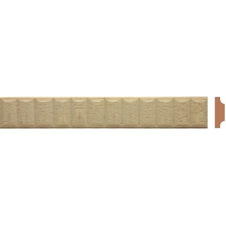 Fluted moulding for wood restorers to renovate period window casing