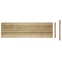 Chair rail molding for reparing door casing and window casing