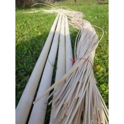 Round reed basket weaving material for craft ideas