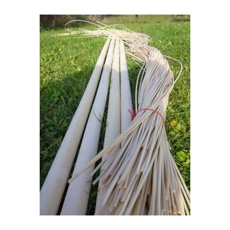 Round reed basket weaving material for crafts ideas