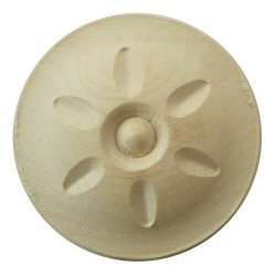 Round carved ornament