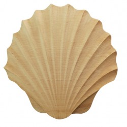 Shelled wood carving