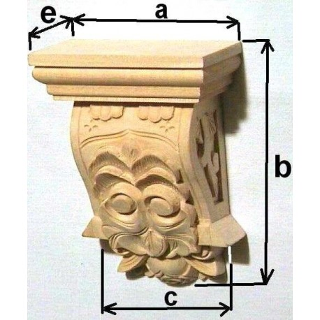 Wooden column, carved onlay