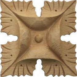 Rosette wooden ornament