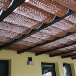 Indoor and outdoor bamboo blinds